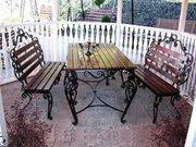 Кованые столы и скамейки. - foto 0