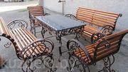 Кованые столы и скамейки. - foto 1