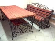 Кованые столы и скамейки. - foto 2