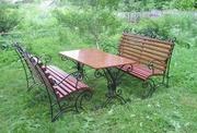 Кованые столы и скамейки. - foto 6