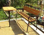 Кованые столы и скамейки. - foto 7