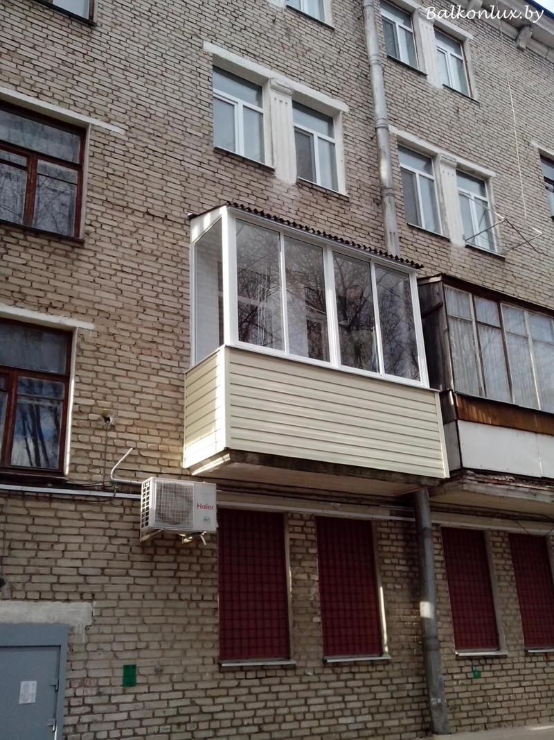 Крыша на балкон: установка последнего этажа, минск.