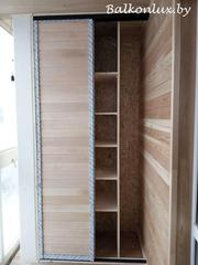Шкаф-купе с полками на балконе - foto 0