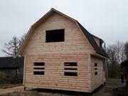 Дом проект Березина сруб из бруса 8х6 м