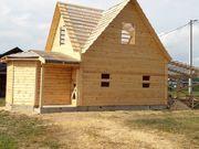 Дома проект Андрей 6х8м из профилированного бруса