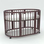 Кроватка овальная трансформер 8 в 1 из массива бука - foto 1