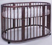Кроватка овальная трансформер 8 в 1 из массива бука - foto 2