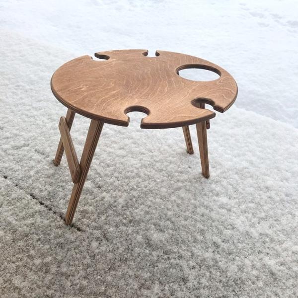 Складные винные столики и столики для пикника. - foto 4