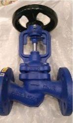 Клапан запорный с сильфонным уплотнением ZETKAMA DN25,  PN16