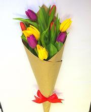 Шикарные букеты из тюльпанов к 8 Марта под заказ - foto 0