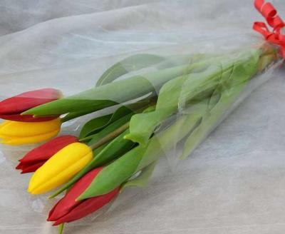 Шикарные букеты из тюльпанов к 8 Марта под заказ - main